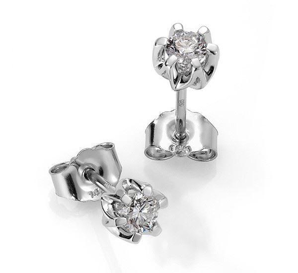 Sitara diamant øredobber med  2/0,26 ct W-Si-422126