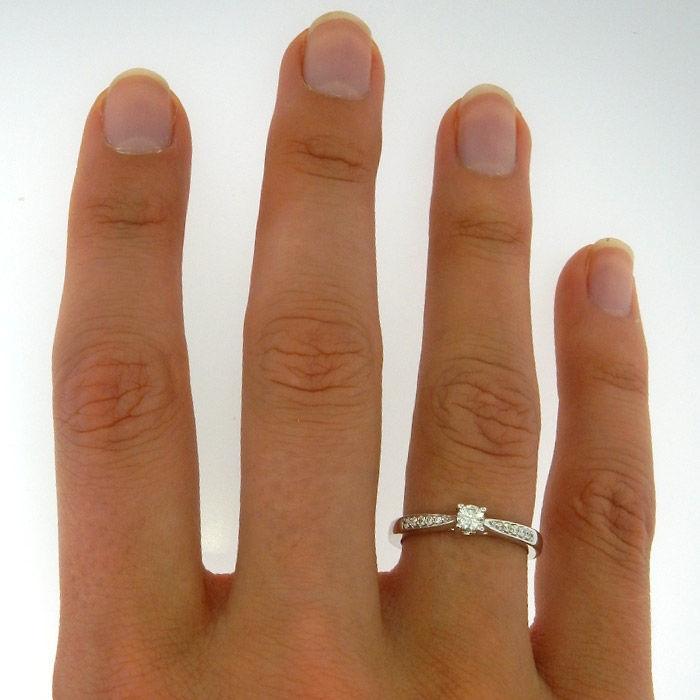 Diamantring forlovelsesring Azur 0,21 ct W-Si - ABR00874-21