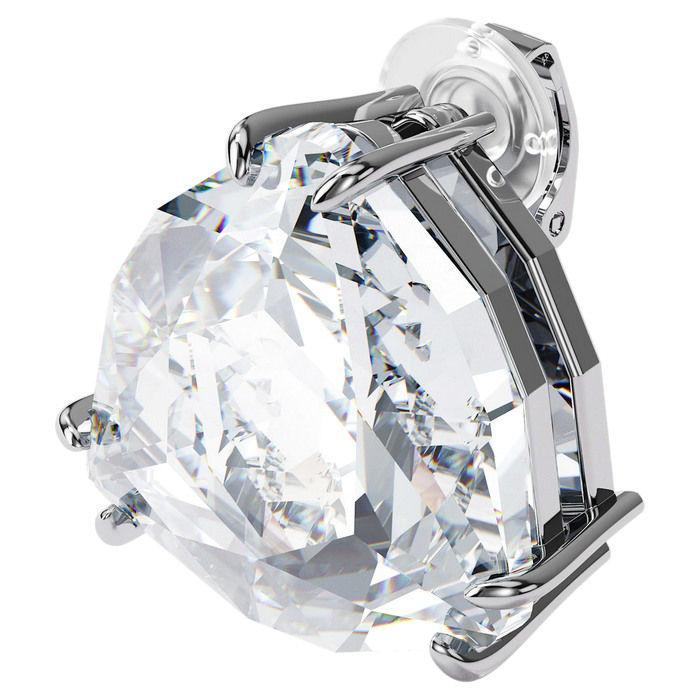 Swarovski øredobber Mesmera clip earring Single, Triangle cut crystal, White, Rhodium - 5600752
