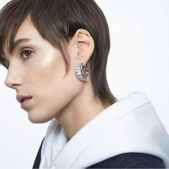 Swarovski øredobber Matrix earrings White, Rhodium plated - 5600776