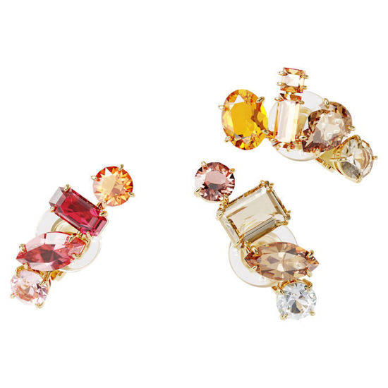 Swarovski øredobber Gema clip earring Single, Set, White, Gold-tone plated - 5600763