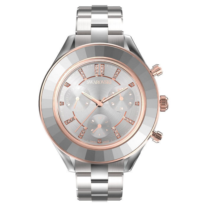 Swarovski klokke Octea Lux Sport watch Metal bracelet, White, Stainless steel - 5610494