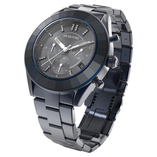 Swarovski klokke Octea Lux Sport watch Metal bracelet, Blue PVD - 5610475