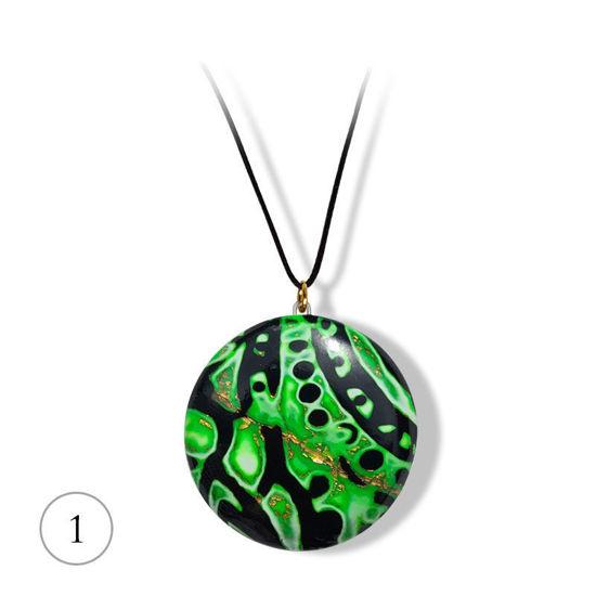 Håndlaget smykke Hidden Magic med gullfarget metall, grønn - 28020737