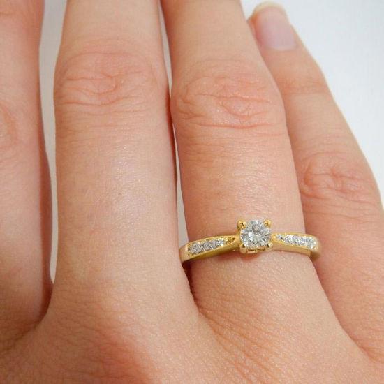 Diamantring forlovelsesring Azur 0,45 ct  TW (G) - Si. GIA - ABR10960-40