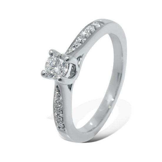 Diamantring forlovelsesring Azur 0,22 ct W-Si - ABR00874-22