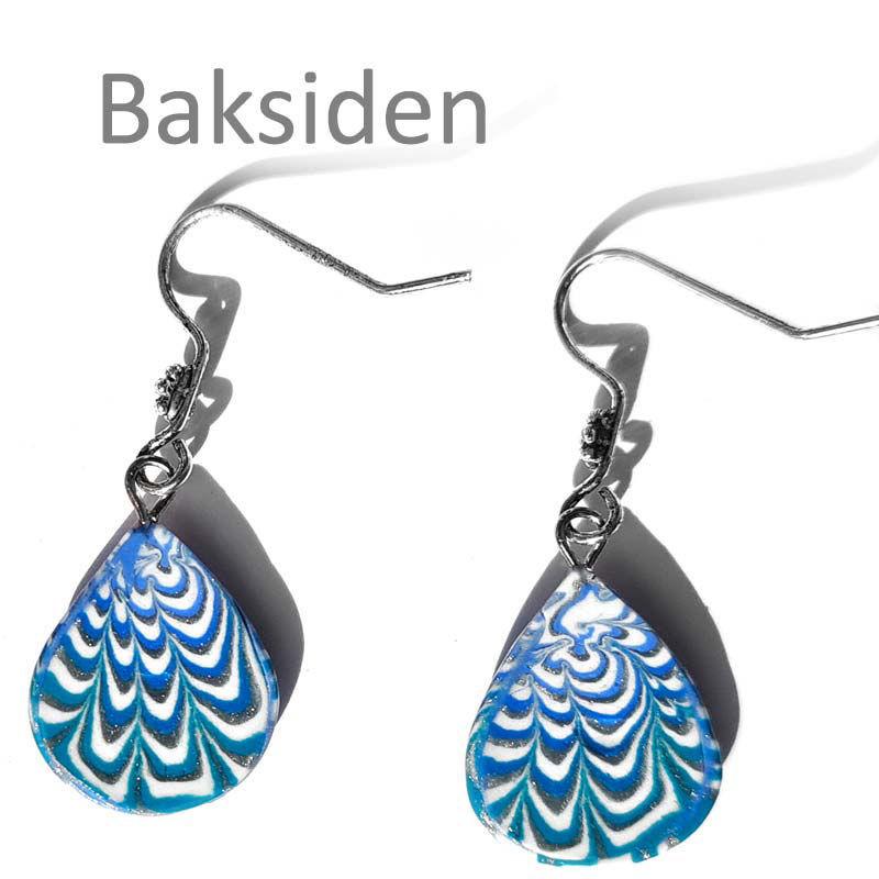 Øredobber Krysantemum, turkis & blå -280207469