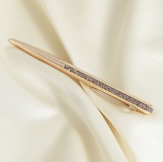 Swarovski Crystal Shimmer ballpoint pen Rose gold tone, Rose gold-tone plated  - 5595673