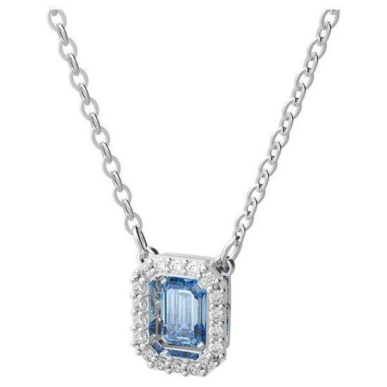 Swarovski smykke Millenia necklace Octagon cut Swarovski zirconia, Blue, Rhodium plated - 5614926