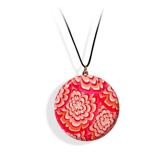 Smykke rosa&rød Krysantemum, med snor-280207459