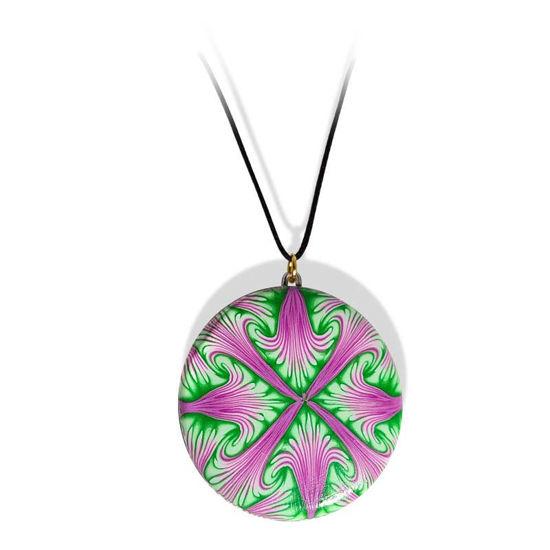 Håndlaget smykke Paradoks, Grønn og lilla mønster - 280207471