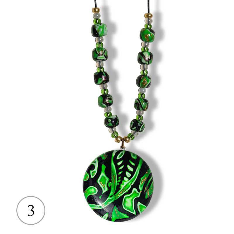 Collier Hidden Magic, grønn mønster - 280207485