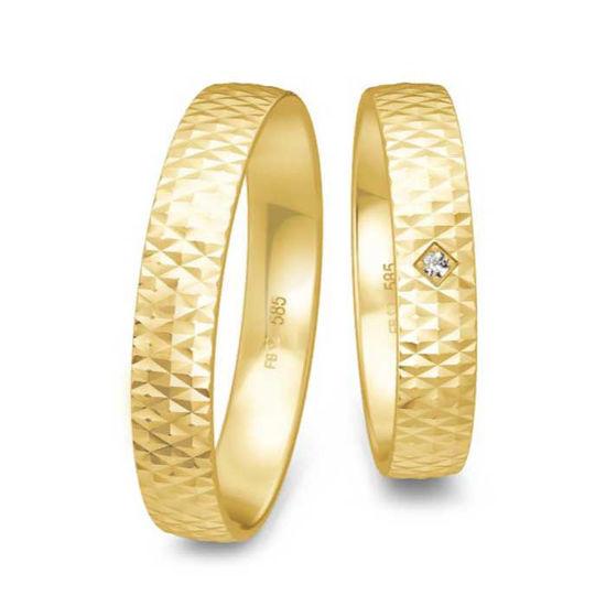 Gifteringer i gult gull 14 kt, 4 mm. LOOP - 4830004