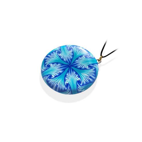 Håndlaget smykke Paradoks, Blå mønster - 280207486