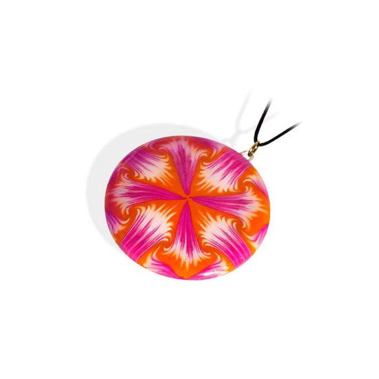 Håndlaget smykke Paradoks, rosa & oransje mønster - 280207487