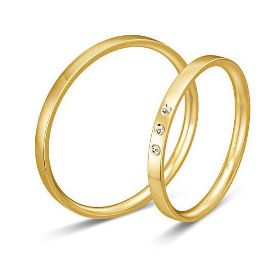 Gifteringer i gult gull 9 kt, 2 mm. BASIC SLIM - 148043070
