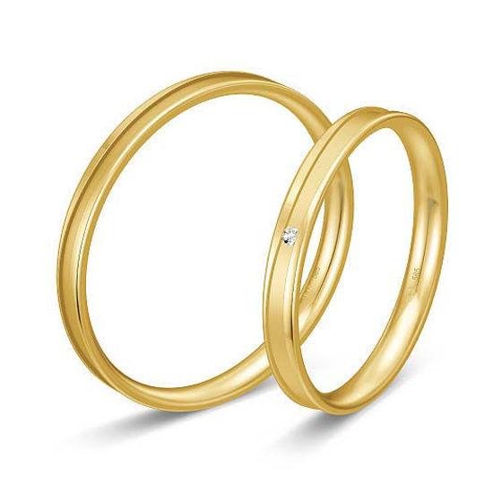 Gifteringer i gult gull 9 kt, 2.5 mm. BASIC SLIM - 148043250