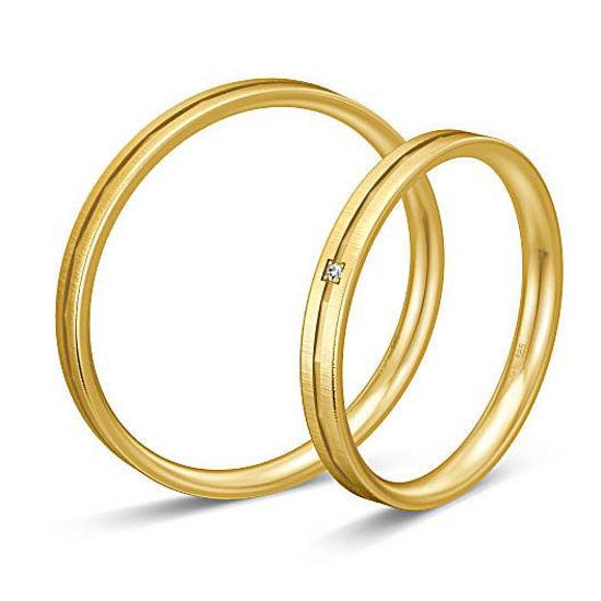 Gifteringer i gult gull 9 kt, 2.5 mm. BASIC SLIM - 148043210