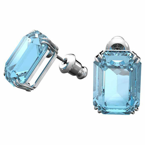 Swarovski øredobber Millenia, Octagon cut crystals, Blue - 5614935
