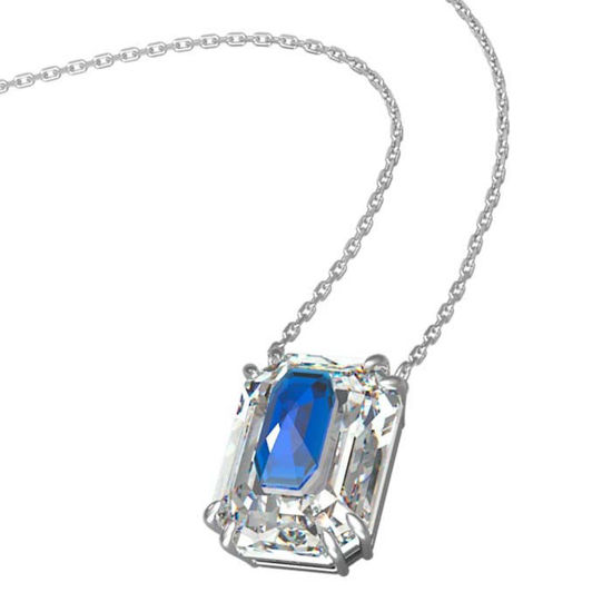 Swarovski smykke. Octagon cut crystal, Blue - 5600625