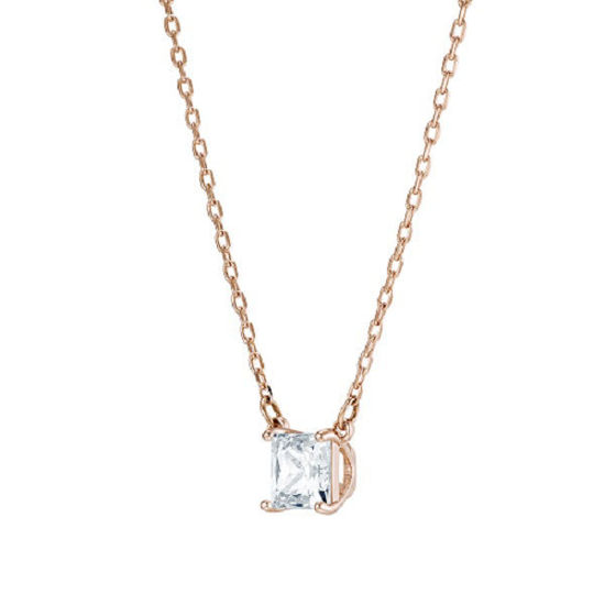 Swarovski smykke Attract necklace Square, White, Rose gold-tone plated - 5510698