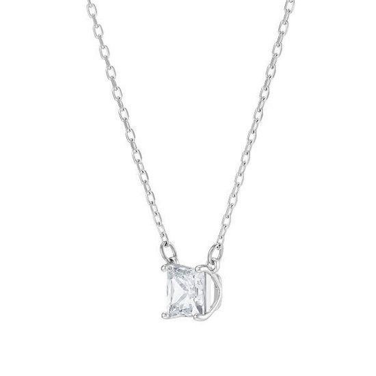 Swarovski smykke Attract necklace Square, White, Rhodium plated - 5510696