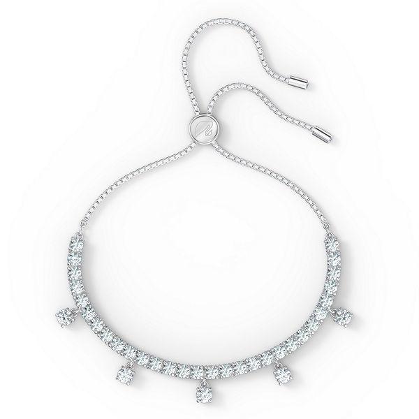 Swarovski armbånd Subtle Drops bracelet White, Rhodium plated - 5556913