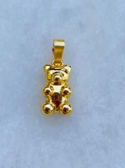 Smykke Zuzanna G LIQUID GOLD YUMMY BEAR kjede anheng i GULL - 1710BEAR-GOLD