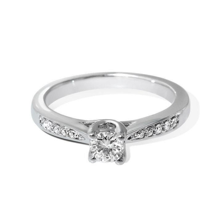 Diamantring forlovelsesring Azur 0,46 ct W-Si,GIA - ABR00874-4
