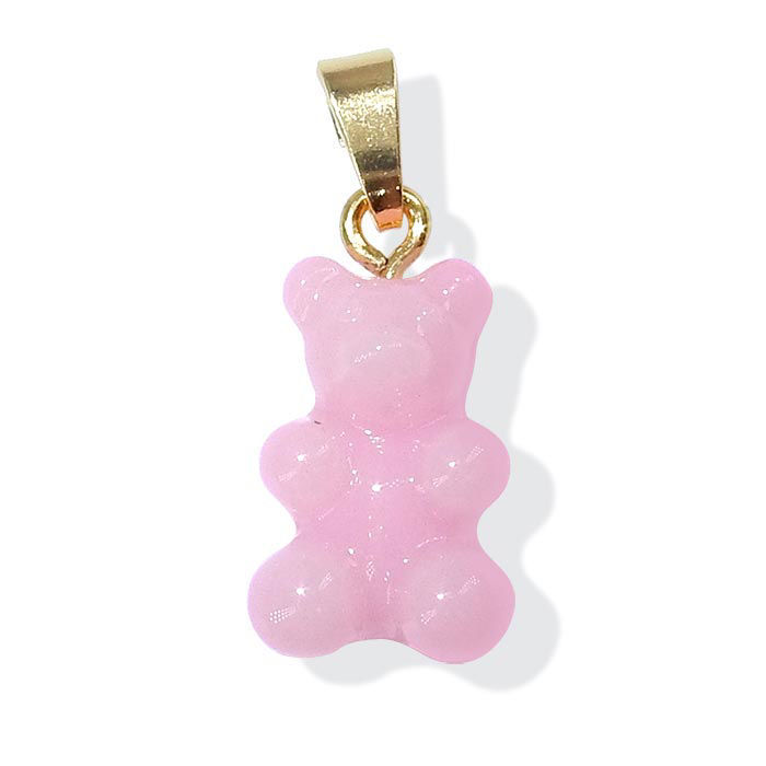 Gummibjørn smykker Zuzanna G. CLASSIC, NEW PINK MILK / GOLD - 1710BEAR-PMG