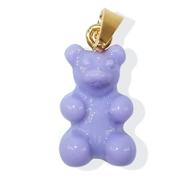 Gummibjørn smykker Zuzanna G, PURPLE OPAL/GOLD - 1710BEAR-POG