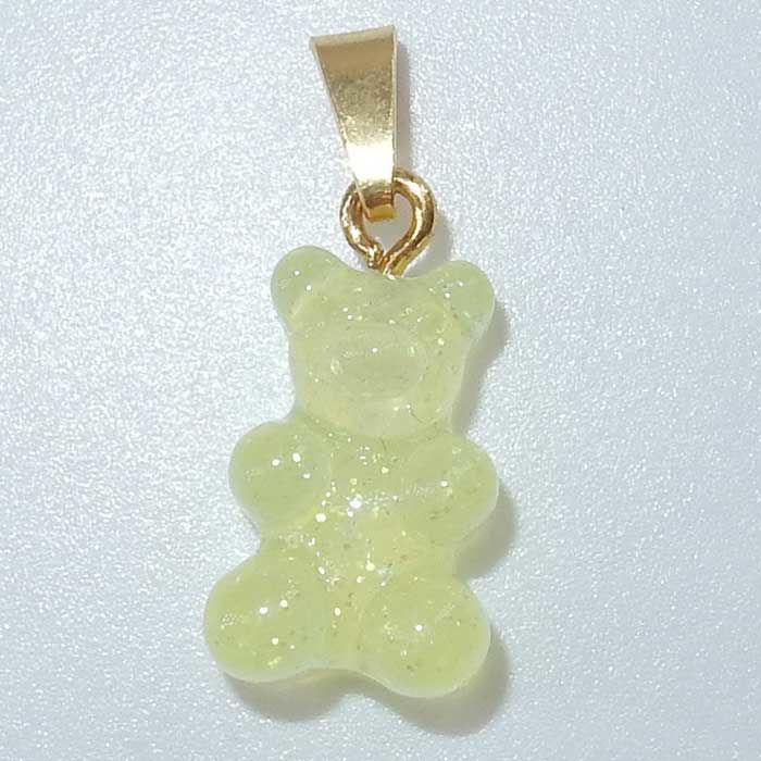 Gummibjørn smykker Zuzanna G. CLASSIC, LEMONADE / GOLD - 1710BEAR-LG