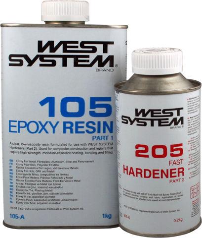 Bilde av West System epoxy resin og herder A-pakke