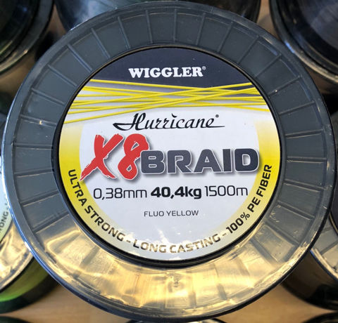 Bilde av Hurricane X8 Braid Fluo Yellow 1500m