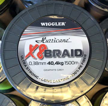 Bilde av Hurricane X8 Braid Graphite Grey 1500m