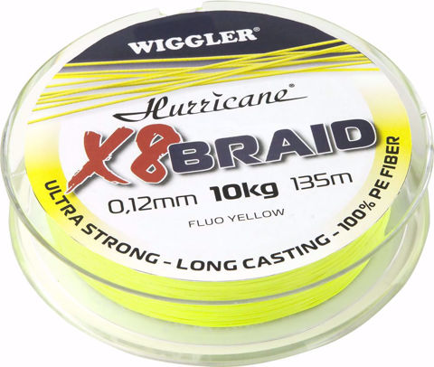 Bilde av Hurricane X8 Braid Fluo Yellow 270m