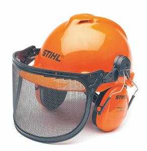 Bilde av Stihl vedhuggerhjelm m/nettingvisir og støybeskyttelse ORANGE