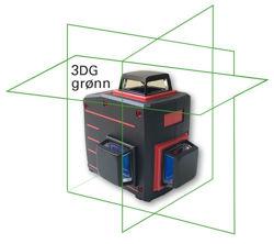 Bilde av Online 3DG trehodet streklaser (Grønn stråle)