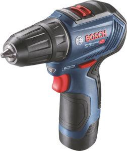 Blå Bosch GSR 12V-30 drill (med batteri)
