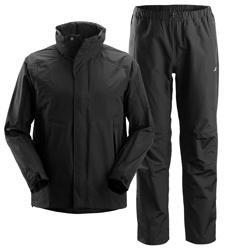 Snickers Regnsett med jakke og bukse i sort
